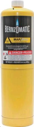 Rental store for Map-Pro Gas Cylinder, 14.1 Oz, Yellow in Chillicothe OH